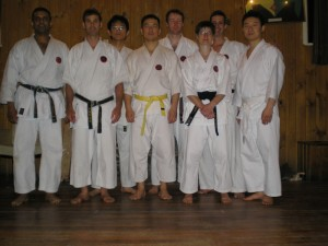 Sensei Nigel Thomas visit to Wellington dojo